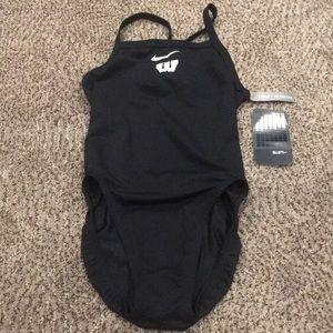 NWT Nike chlorine resistant racerback swim suit.